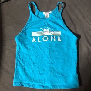 Sunset Beach Aloha Crop Tank